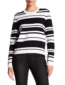Sculpture Striped Sweater by Frame Denim