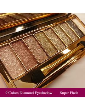 Professional Eye Shadow Maquillage 9 Colors Diamond Bright Makeup Eyeshadow Smoky Palette Make Up Set by Kupa Charm&Beauty Store