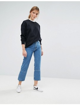 Moss Copenhagen Mom Jeans With Reconstructed Panel by Moss Copenhagen