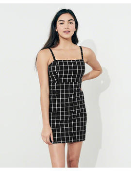 Plaid Square Neck Dress by Hollister