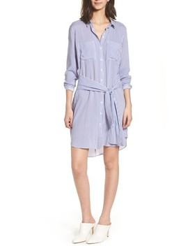 Bishop + Young Stripe Tie Waist Shirtdress by Bishop And Young