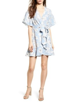 Floral Print Wrap Dress by Moon River