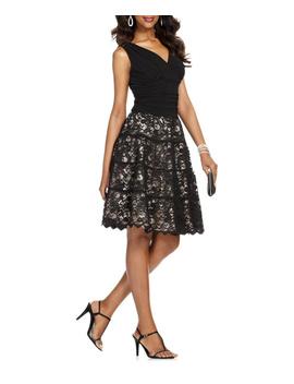 Ruched Lace Sleeveless Dress by Slny