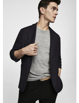 Unstructured Regular Fit Cotton Blazer by Mango
