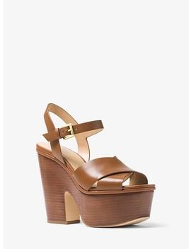 Divia Leather Platform Sandal by Michael Michael Kors
