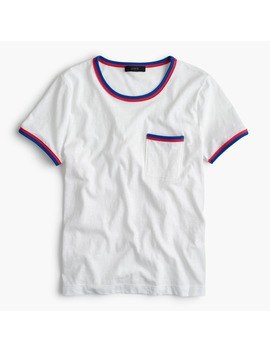 Contrast Edged Pocket T Shirt by J.Crew