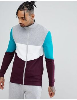 Asos Muscle Track Jacket With Retro Colour Blocking by Asos
