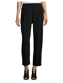 Silk Georgette Wide Leg Pants, Petite by Eileen Fisher