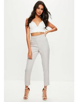 Grey Tailored Cigarette Pants by Missguided