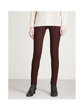 Slim Fit Skinny High Rise Woven Trousers by Joseph