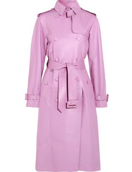Leather Trench Coat by Valentino