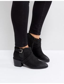 Rule London Strappy Low Leather Boot by Boots