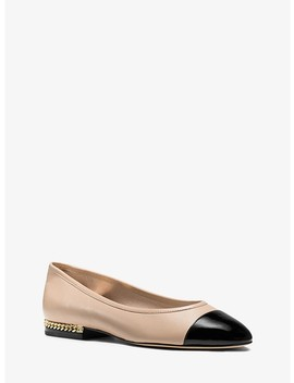 Sabrina Cap Toe Leather Flat by Michael Michael Kors