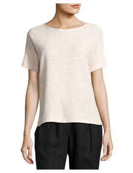 Organic Linen/Cotton Box Top by Neiman Marcus