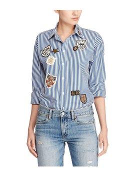 Polo Ralph Lauren Patchwork Boyfriend Shirt by Polo Ralph Lauren