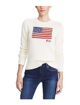 Flag Cotton Sweater by Polo Ralph Lauren