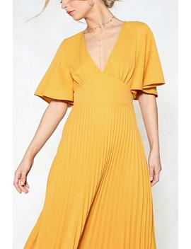 Pleat It Hun Maxi Dress by Nasty Gal