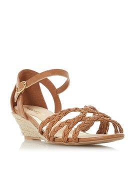 Kourt Two Part Espadrille Wedge Sandals by Head Over Heels