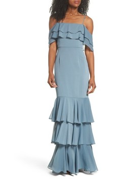 Lauren Off The Shoulder Tiered Gown by Wayf