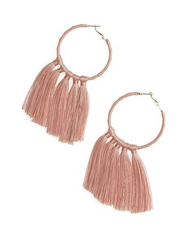Wrapped Tassel Hoop Earrings by Bp.