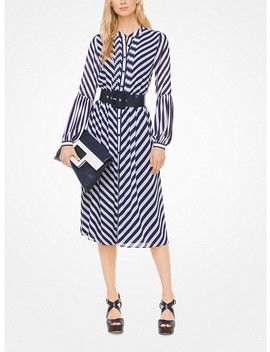 Striped Georgette Shirtdress by Michael Michael Kors