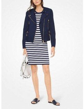 Stretch Cotton Moto Jacket by Michael Michael Kors