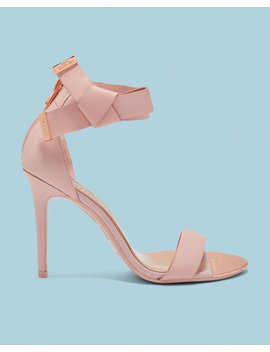 Knotted Bow Leather Sandals by Ted Baker