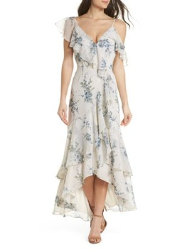 Elanor Ruffle Faux Wrap Maxi Dress by Wayf