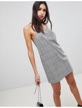 Asos Design – Fein Kariertes Camisole Kleid Mit Eckigem Ausschnitt by Asos Design