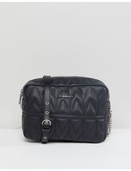 Fiorelli Lola Chevron Quilted X Body Bag by Fiorelli