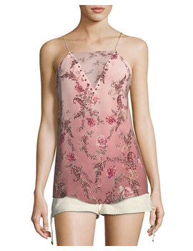 No Regrets Floral Print Silk Camisole by Haute Hippie