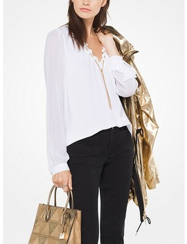 Chain Link Georgette Blouse by Michael Michael Kors