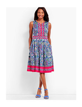 Paisley Fit & Flare Dress by Talbots