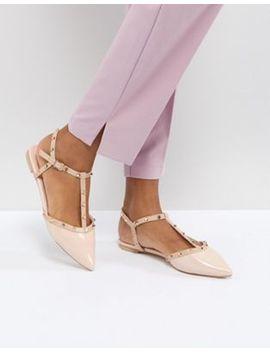 Dune – London Cayote – Flache Schuhe Mit Nieten by Dune