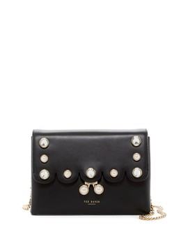 Saraa Scalloped Leather Crossbody Bag by Ted Baker London