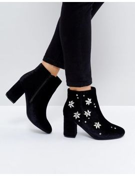 Asos Rosalie Embellished Heeled Boots by Asos Collection