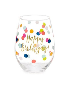 Happy Birthyay Wine Glass by Slant Collections
