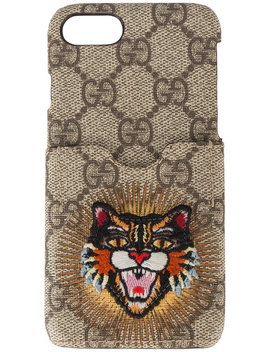 Embroidered Angry Cat I Phone 6/7 Case by Gucci