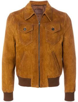 Cutaway Collar Bomber Jacket by Prada