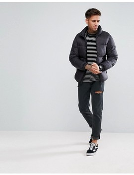 Pull&Bear Puffer Jacket In Black by Pull&Bear