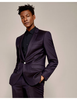 Pashion Jacquard Wool Suit Jacket by Ted Baker