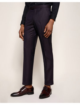 Pashion Jacquard Wool Suit Pants by Ted Baker