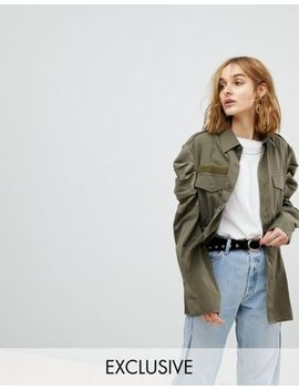 Reclaimed Vintage Revived Tailored Military Shirt by Reclaimed Vintage