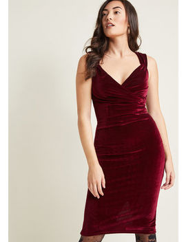 Lady Love Song Velvet Dress In Merlot Lady Love Song Velvet Dress In Merlot by Modcloth