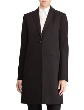 Crepe Reefer Coat by Lauren Ralph Lauren