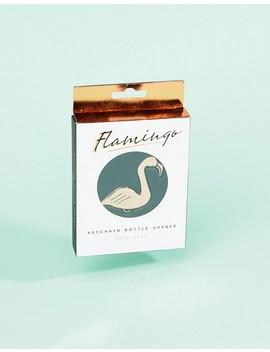 Gift Republic Rose Gold Flamingo Key Ring by Asos