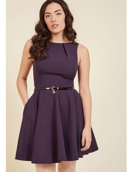 Closet London Luck Be A Lady A Line Dress In Violet In 12 (Uk)Closet London Luck Be A Lady A Line Dress In Violet In 12 (Uk) by Modcloth