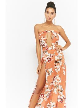 Floral Tube Maxi Dress by Forever 21