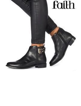 Faith Buckle Detail Wide Fit Ankle Boot by Next