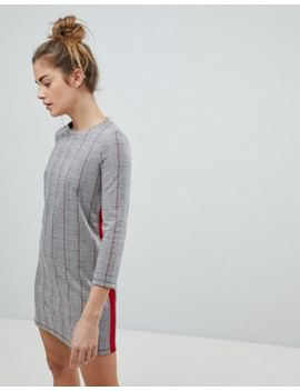 Pull&Bear Checked Jersey Dress by Pull&Bear